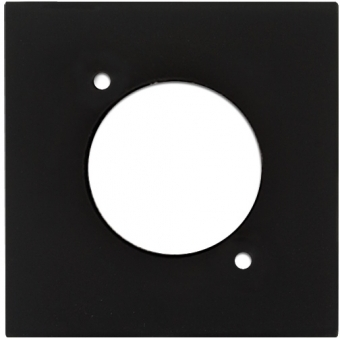 CP43DSZ - Wall Panel with D-size hole - Black Version #2