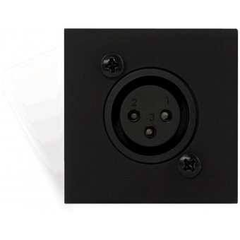 CP43XLF - Connection plate with Female XLR connector - bTicino Livinglight - BLACK VERSION