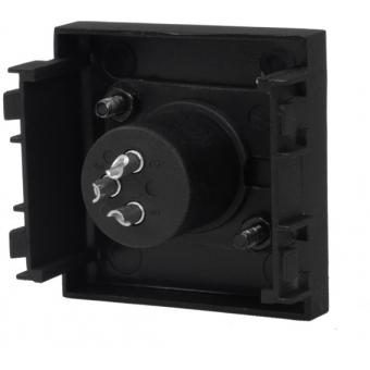 CP43XLM - Connection plate with Male XLR connector - bTicino Livinglight - BLACK VERSION #3
