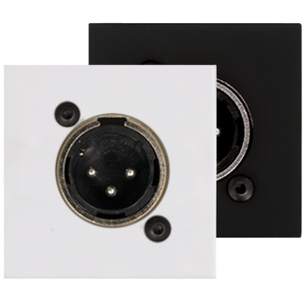 CP43XLM - Connection plate with Male XLR connector - bTicino Livinglight - BLACK VERSION