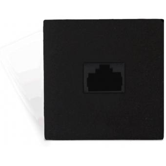 CP45ARJ/B - Connection Plate - Rj45junction Box - 45x45mm - Black
