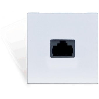 CP45ARP/W - Connection Plate - Rj45 Repeater For Apm+aru 45x45mm - White
