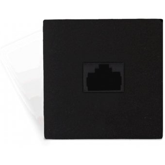 CP45ARP/B - Connection Plate - Rj45 Repeater For Apm+aru 45x45mm - Black