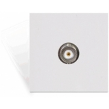 CP45BNC - Connection plate with Female BNC connector - 45 x 45 mm - WHITE VERSION