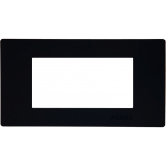 CP45CF2/B - Cover Frame For 45x45mm Wallpanel - 2 Unit - Black #2