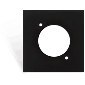 CP45DSZ/B - Coverplate 45x45mm - D-size Hole - Black