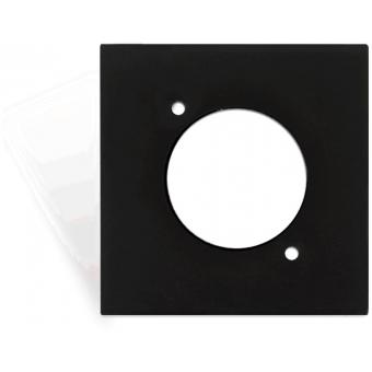 CP45DSZ/B - Coverplate 45x45mm - D-size Hole - Black