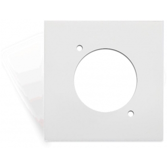 CP45DSZ/W - Coverplate 45x45mm - D-size Hole - White