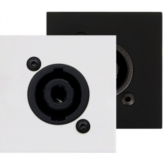CP45SPE/W - Connection Plate - D-size Speaker - 45x45mm - White