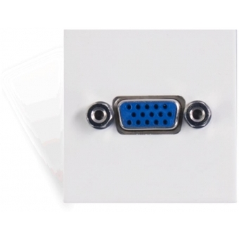 CP45VGA/W - Connection Plate -svga-45x45mmwhite