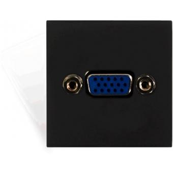 CP45VGA/B - Connection Plate -svga-45x45mmblack
