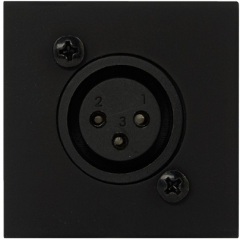 CP45XLF/B - Connection Plate - D-size Xlrfemale - 45x45mm - Black #2