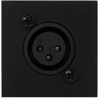 CP45XLF/B - Connection Plate - D-size Xlrfemale - 45x45mm - Black #2