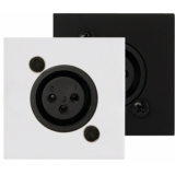 CP45XLF/B - Connection Plate - D-size Xlrfemale - 45x45mm - Black