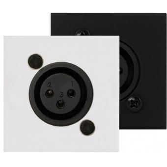 CP45XLF/W - Connection Plate - D-size Xlrfemale - 45x45mm - White