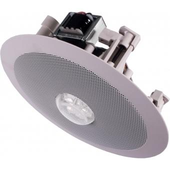 CSE55 - Ceiling speaker with integrated RED led unit (24V) - 100 Volt - 10 Watt RMS / 6 Watt transformer #2