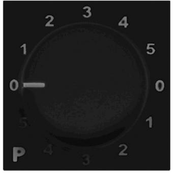 PC4000/B - 100v Program Selector- Bticino - Black