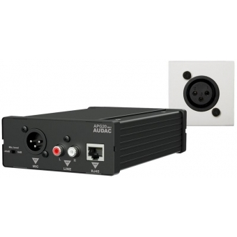 WP45M/W - Receiver Apg20+wall Panel Set Mic - 45x45 White