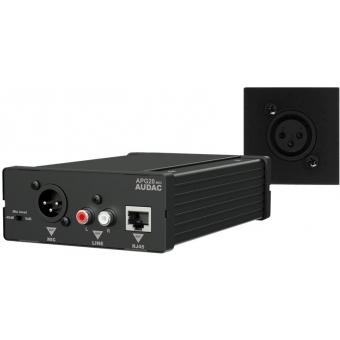WP45M/B - Receiver Apg20+wall Panel Set Mic - 45x45 Black