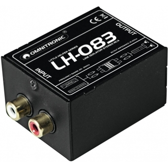 OMNITRONIC LH-083 Stereo Isolator RCA S