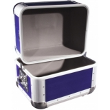 ROADINGER Record Case ALU 50/50, rounded, dark blue