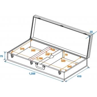 DIMAVERY Wooden Case for E-Bass, rectangular #5