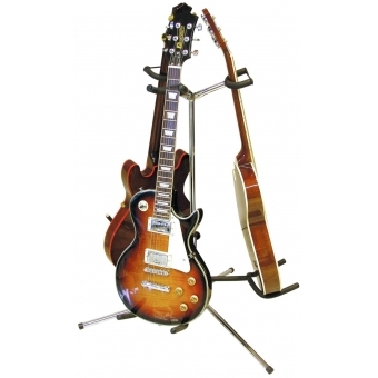 DIMAVERY Guitar Stand 3-fold sil #2
