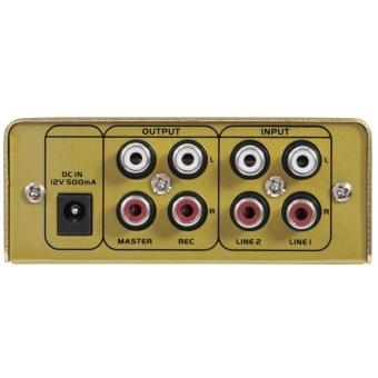 OMNITRONIC GNOME-202 Mini Mixer gold #5