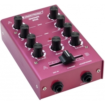 OMNITRONIC GNOME-202 Mini Mixer red #4