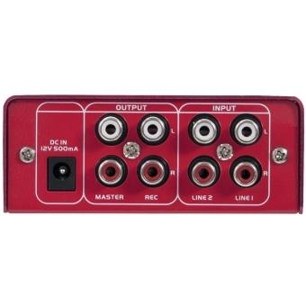 OMNITRONIC GNOME-202 Mini Mixer red #5