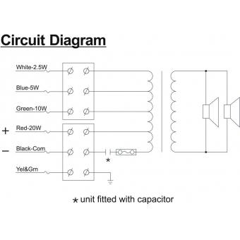 HONEYWELL Projector Speaker L-VBM20A/EN IP65(EN54) #8