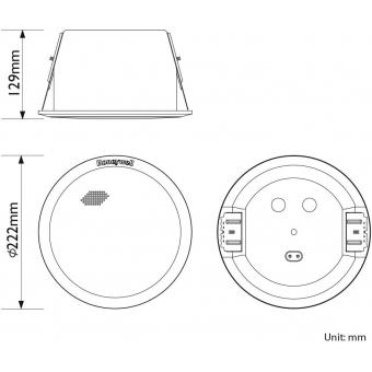 HONEYWELL Ceiling Speaker L-VCM6A/EN (EN54) #6