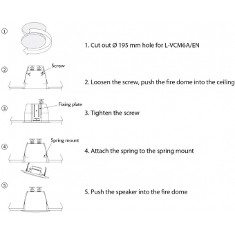 HONEYWELL Ceiling Speaker L-VCM6A/EN (EN54) #7