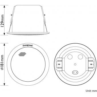 HONEYWELL Ceiling Speaker L-VCM6B/EN (EN54) #6