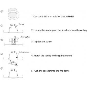 HONEYWELL Ceiling Speaker L-VCM6B/EN (EN54) #7