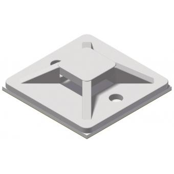 ACM130/W - Self Adhesive Cable Tie Mount- 30x30mm - White - 100 Pcs