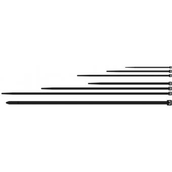 ACT320/B - Nylon Cable Ties - 3,6x200mm -uv Resist Black - 100 Pcs Pack