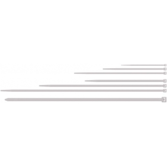ACT418/W - Nylon Cable Ties - 4,8x180mm -standard White - 100 Pcs Pack
