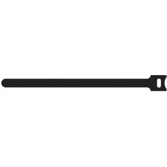 BST120/B - Hook & Loop Cable Ties -12x200mm - Black - 10 Pcs Pack