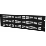 "BSV03 - 19"" Blind Cover,steel,3units,ventilated,black"