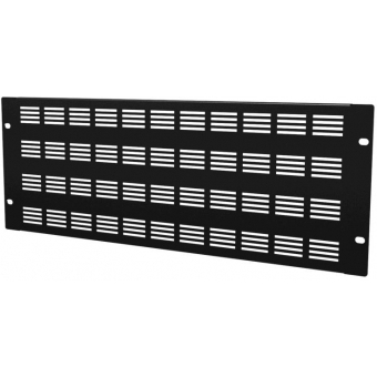 """BSV04 - 19"""" Blind Cover,steel,4units,ventilated,black"""
