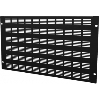 "BSV06 - 19"" Blind Cover,steel,6units,ventilated,black"