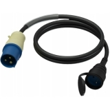 CAB456/FF - Adapter Cable Cee Male - Shukofemale France - 1m