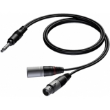 CAB709/0.6 - Xlr Male & Female - Jack Male Stereo - 0.6m