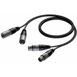 CAB710/1 - 2x Xlr Female - 2x Xlr Male -1m