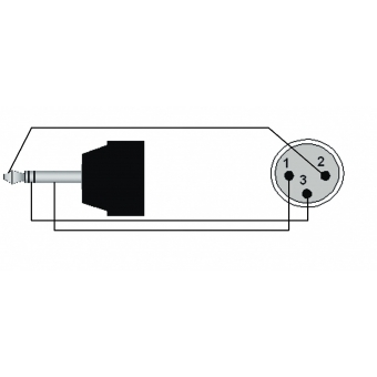 CAB714/1.5 - Mini Jack Male Stereo - Xlrmale - 1.5m #2