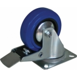 CAS100L - Solid swivel Wheel for flightcase with brake.