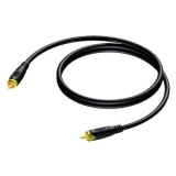 CAV162 - RCA/Cinch male to RCA/Cinch male - 75 Ohm - 0,5 METER