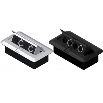 CB2XFS/B - Floor Connection Box - 2 Xlrfem &2 Speaker Connectors/bla