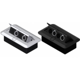 CB2XFS/B - Floor Connection Box - 2 Xlrfem &2 Speaker Connectors/bla